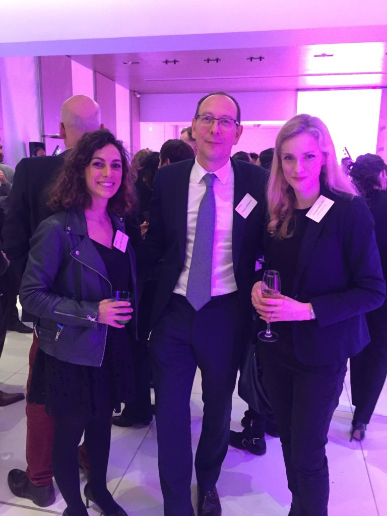 L'Oréal executive committe member in charge of Western Europe Vianney Derville & corporate communications director Sophie Dory-Lautrec